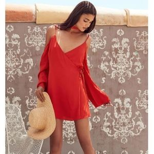 Lovers + Friends Love Letter Cold Shoulder Dress-M